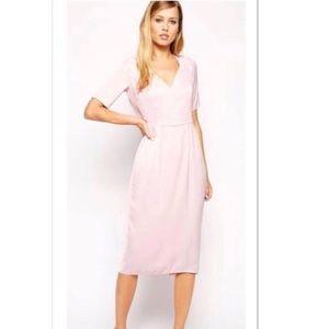 New! ASOS blush pink midi dress